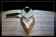 Coeur de lumière sur partition