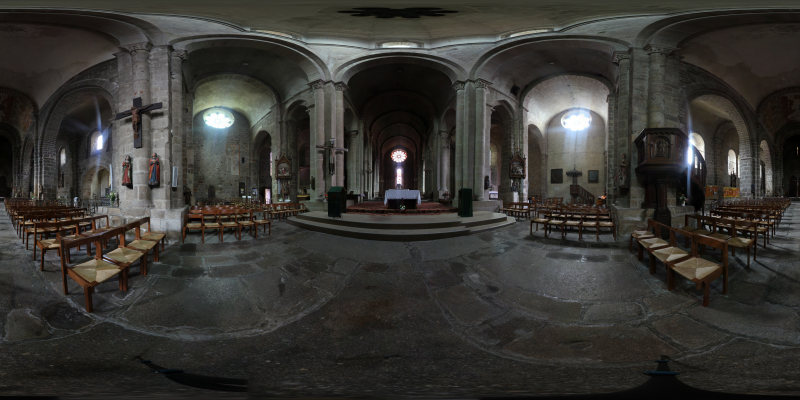Panorama virtuel 3D : Collégiale de St Junien