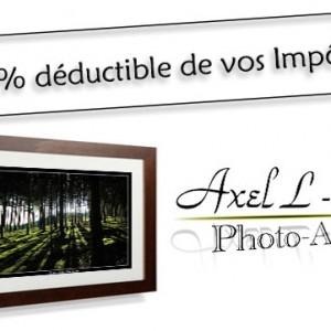 Tirages photo d'art 100% déductibles de vos impôts !