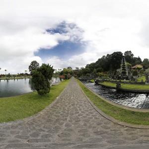 Panoramique 360° : Taman Tirtagangga - Palais de l'eau - Bali | Indonésie