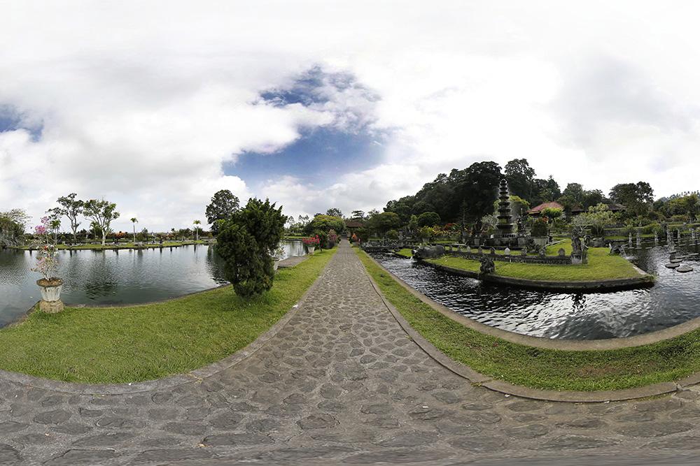Panoramique 360° : Taman Tirtagangga – Palais de l'eau – Bali | Indonésie