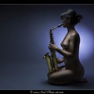 Sensuelle saxophoniste