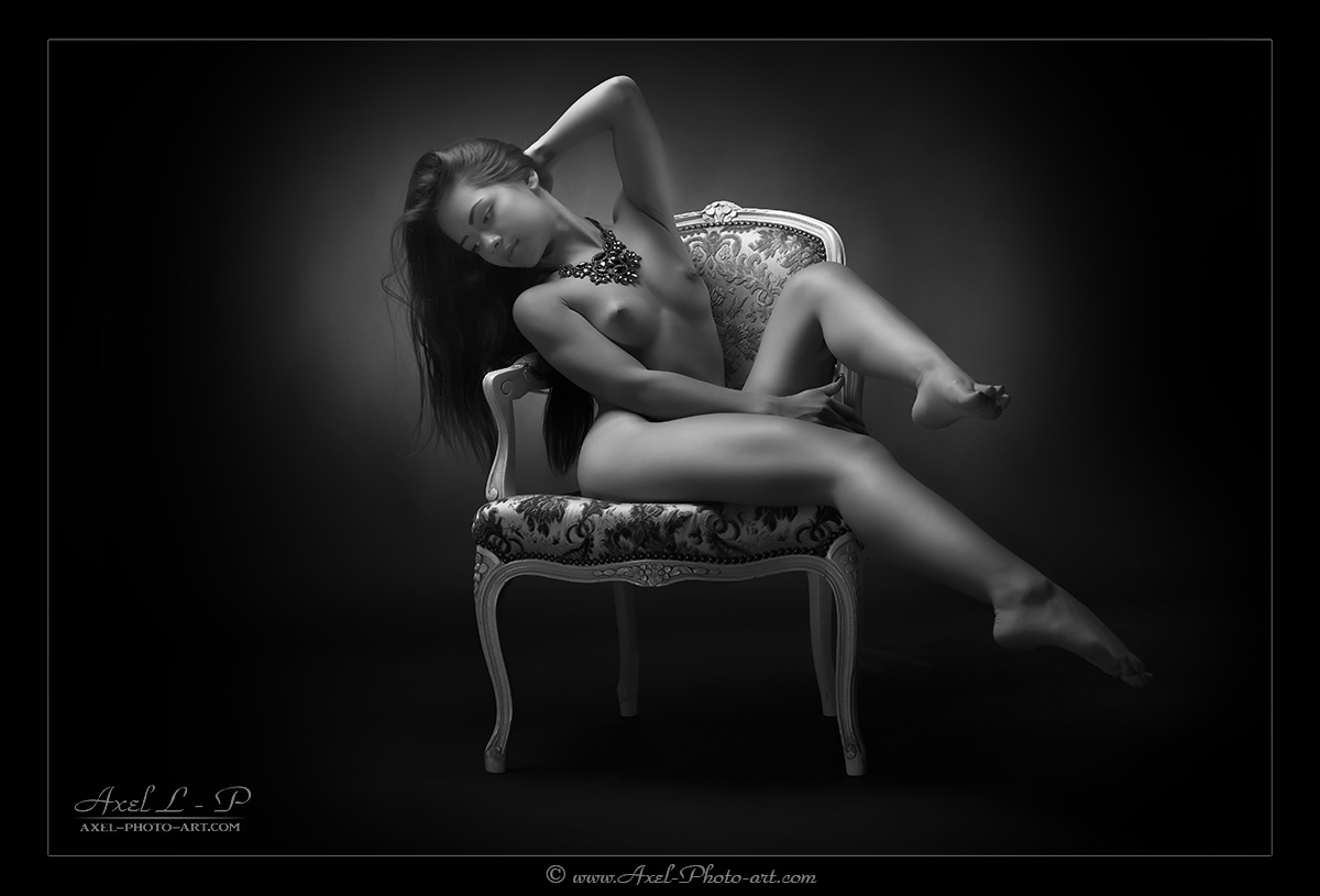Photos nues en noir et blanc