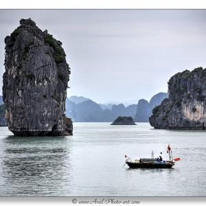 Baie d'halong : Village flottant de pécheurs - Vietnam
